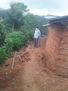 Damage caused by hurricanes in Los Linderos 2020