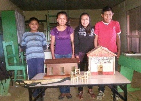 Students with their projects 2020
